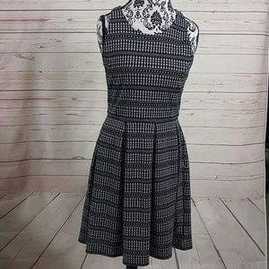 Banana Republic Factory Black White Pleated Dress